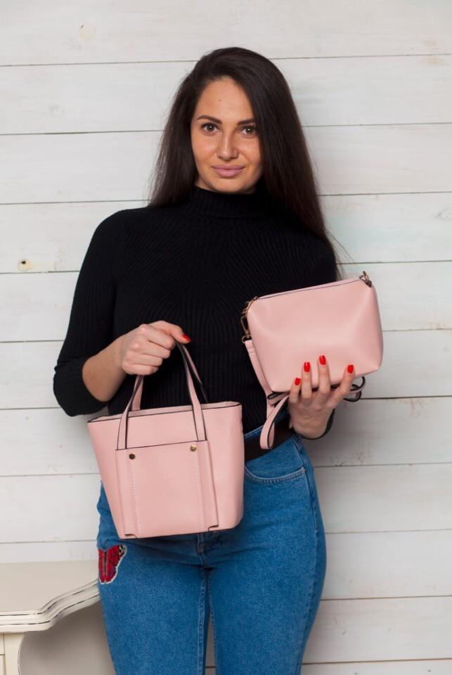 Женская сумка с клатчем