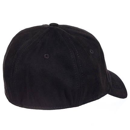 Бейсболка фулка  велюр черный, фото 2