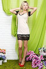 Платье декольте дайвинг с гипюром , фото 2