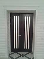 Двері соснові шпоновані дубом Аванті