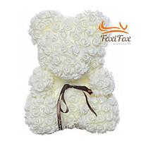 Мишка из роз UFT Bear Flowers UFT BB1 White
