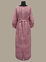 Льняное платье Ярина лиловое 48 размер в наличии