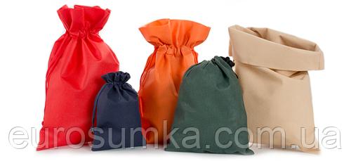 Мешочки из спанбонда с логотипом, мешки