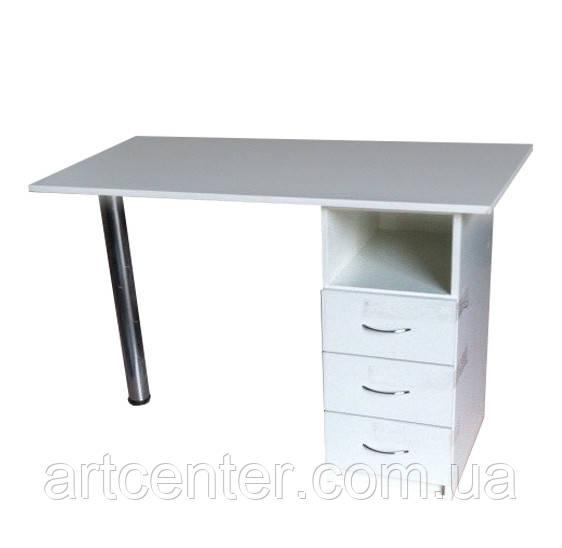Маникюрный стол Эконом однотумбовый с выдвижными ящиками