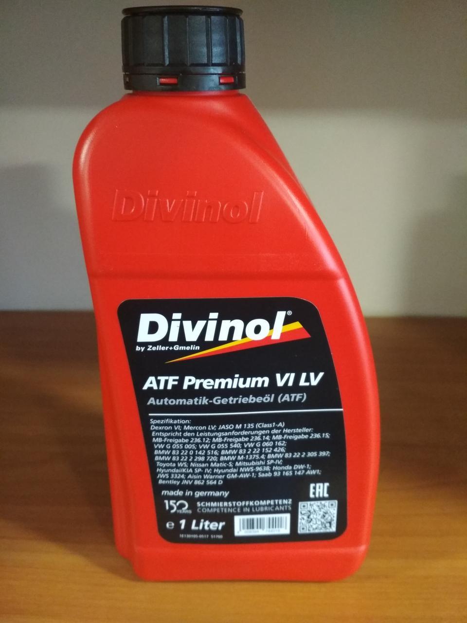 DIVINOL ATF Premium VI(кан,1литр)