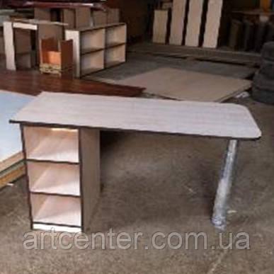 Маникюрный стол ЭКОНОМ с открытыми полочками
