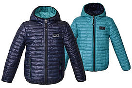Дитячий демісезонний двостороння куртка «Спорт», на ріст від 98 до 164 див.