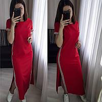 Женское стильное длинное платье  ХО092-19