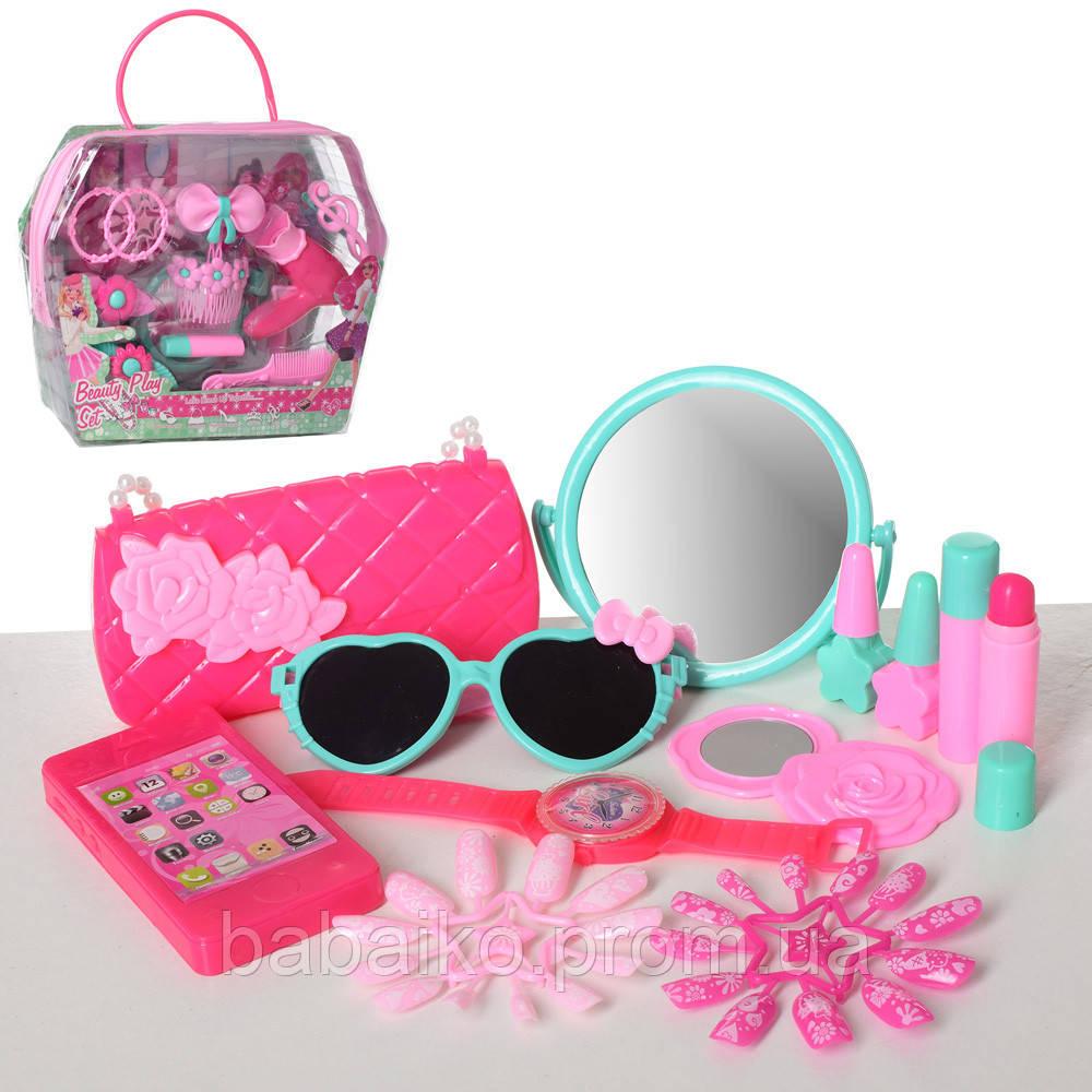 Набір аксесуарів HC139A-C дзеркало 2 види (фен заклочки сумочка окуляри)  сумка f13c5da4752f2