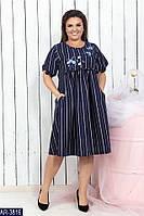 Летнее женское платье креп костюмка + аппликация раз. 50-52, 54-56, 58-60