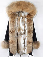 Куртка парка зимняя с мехом енота