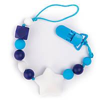 Прорезыватель-держатель для соски BabyMio Голубой (PROD4)