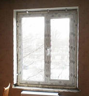Металлопластиковое двухстворчатое окно ALMPlast