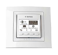 Термостат Terneo pro для теплых полов программируемый (с датчиками пола и воздуха) Белый