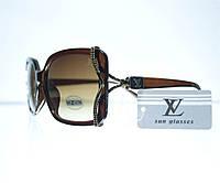 Оптом Очки женские Louis Vuitton солнцезащитные - Коричневые - 8330