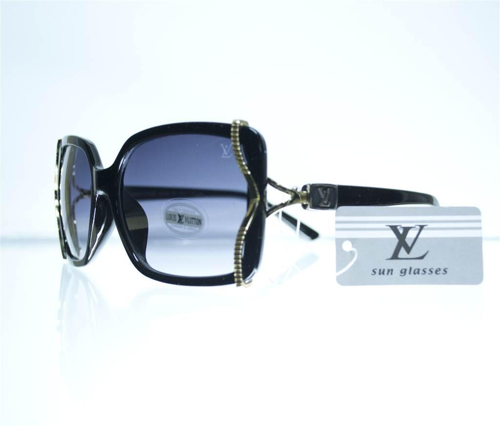 Очки женские Louis Vuitton солнцезащитные - Черные - 8330
