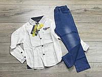 Костюм для мальчиков (Джинсы+ рубашка). 3- 5 лет.