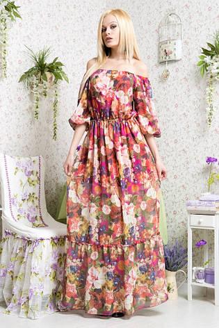 Платье в пол цветы шифон , фото 2
