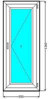 Металлопластиковое одностворчатое окно WDS Galaxy,WDS 400, WDS 505 купить недорого. Окна Киев цена