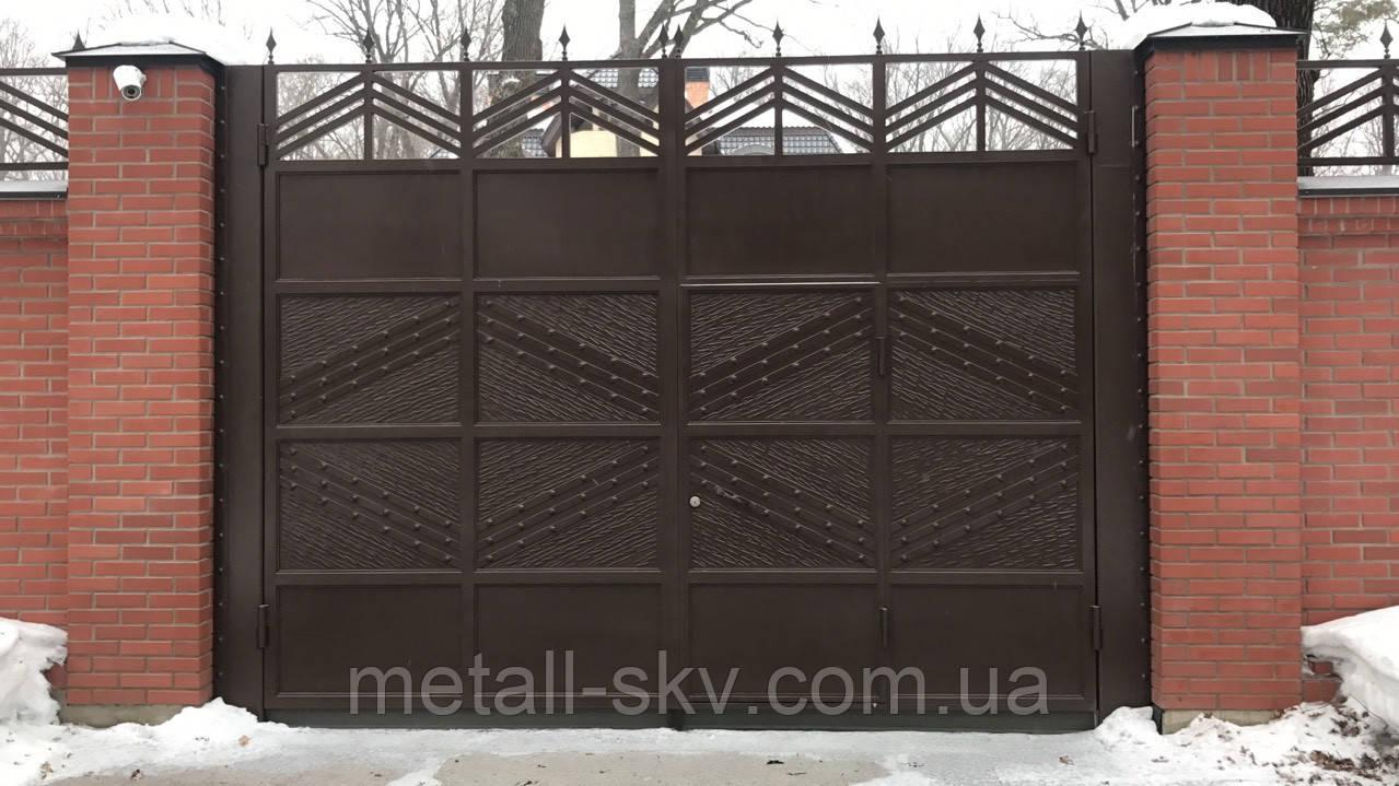 Ворота кованые жатые