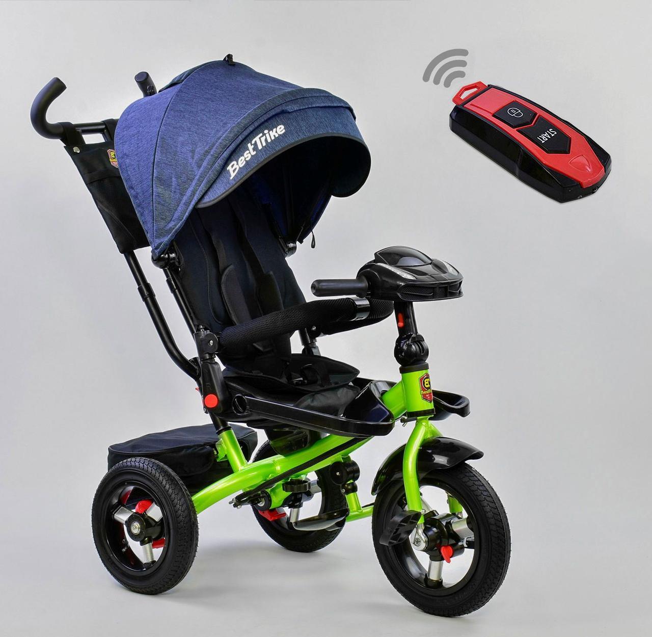 Bелосипед трехколесный Best Trike 6088 F - 1780 с надувными колесами Джинс 75096