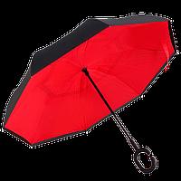 Зонт обратного сложения Up-Brella Красный + чехол (18000)