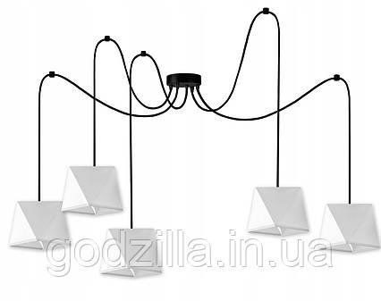 Подвесной потолочный светильник ABAŻUR SPIDER 5 белый