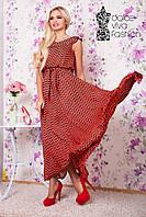 Женское летнее длинное платье из шифона