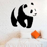 Интерьерная виниловая наклейка на стену Панда (наклейки животные медведь) матовая