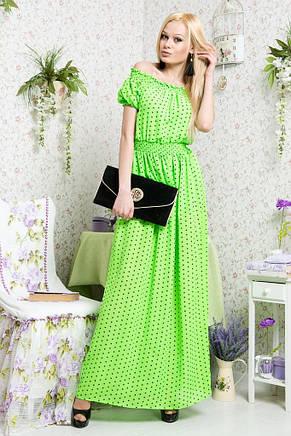 Платье в пол горох шифон, фото 2