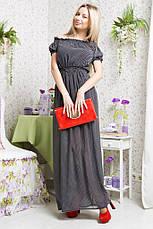 Платье в пол горох шифон, фото 3