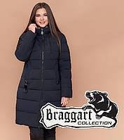 Braggart Youth 25095 | Зимняя женская куртка большого размера темно-синяя