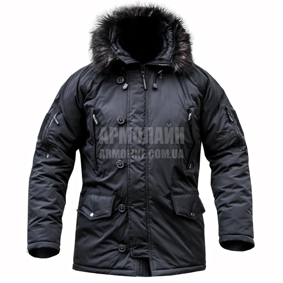 b6159100 Зимняя милитари куртка Аляска в чёрном цвете.