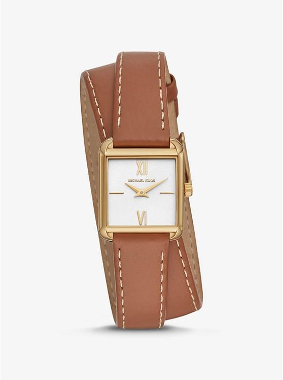 Часы Michael Kors Lake Gold-Tone and Leather Wrap MK2760