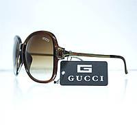 Оптом Очки женские Gucci солнцезащитные (реплика) - коричневые - 8191, фото 1