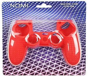 Силіконовий чохол NOMI Anti-slip до геймпаду PS4 Червоний (442079), фото 2