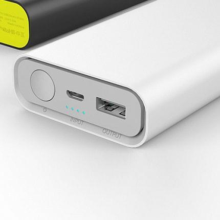 Power Bank Rock Cola Plus 10000mAh з функцією швидкої зарядки Quick Charge 2.0. Ємність реальна! Білий колір