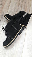 Демисезонные детские ботинки ортопедические из черной натуральной замши р.21-35.
