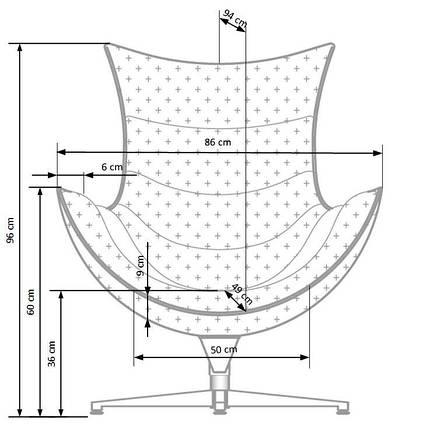 Кресло  LUXOR (Halmar), фото 2