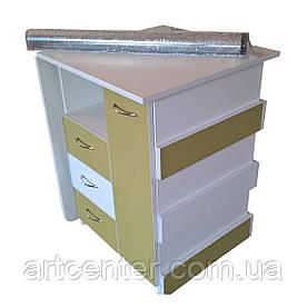 """Маникюрный стол  складной с ящиком """"карго"""", выдвижными ящиками для студии красоты"""