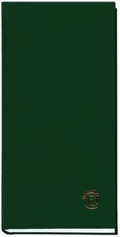 Книга алфавитная А6, 80 листов, зеленый