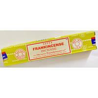 Благовонные палочки натуральные пыльцовые Ладан (франкинсенс), Frankincense, 15gm, Satya, фото 1
