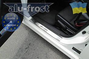 Накладки на пороги Honda Accord 2008+ (Premium)