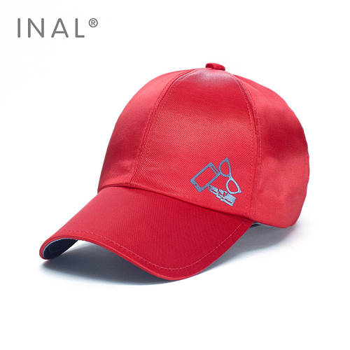 Кепка бейсболка, Enjoy Life, M / 55-56 RU, Атлас, Красный, Inal