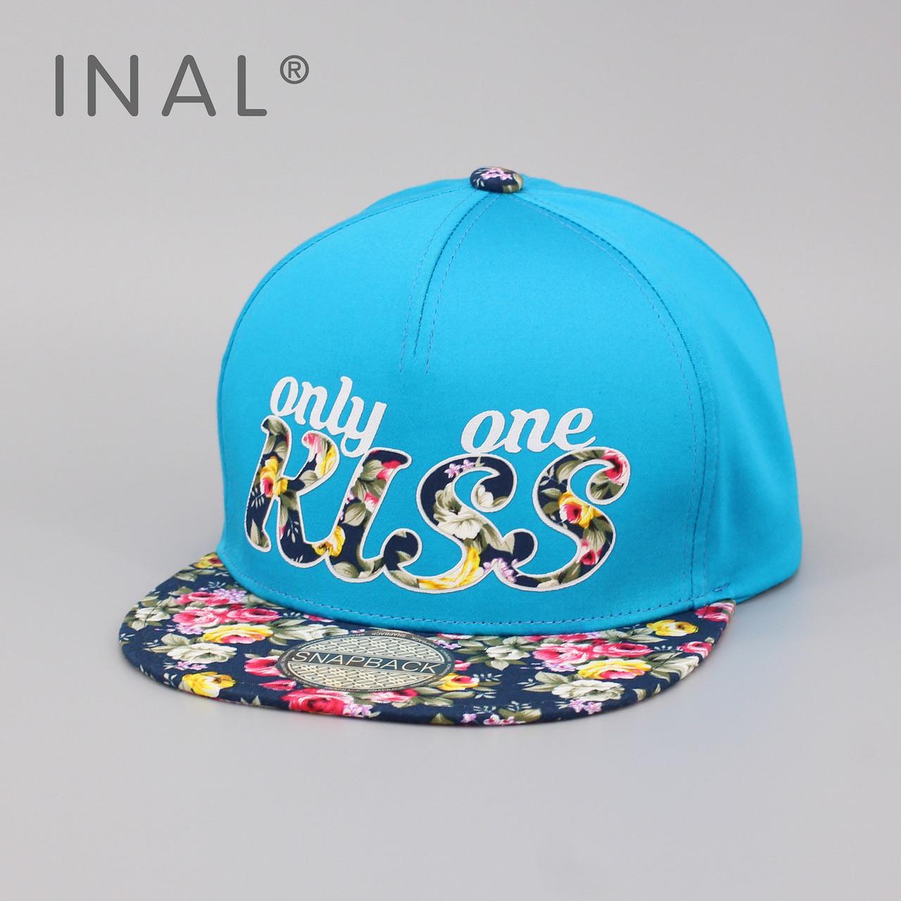 Кепка бейсболка INAL Kiss M / 55-56 RU Голубой 45455