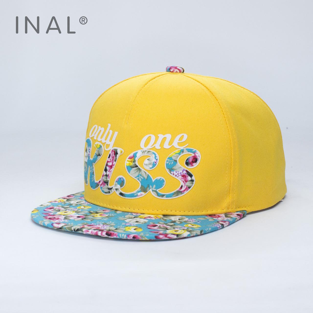 Кепка бейсболка INAL Kiss M / 55-56 RU Желтый 46555