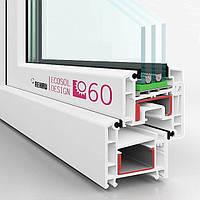 Окна  Рехау Rehau E60 Германия трехкамерные энергосберегающие