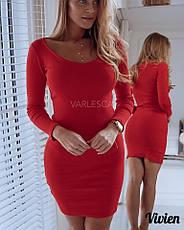 Однотонное короткое платье , фото 2