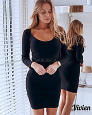 Однотонное короткое платье , фото 3