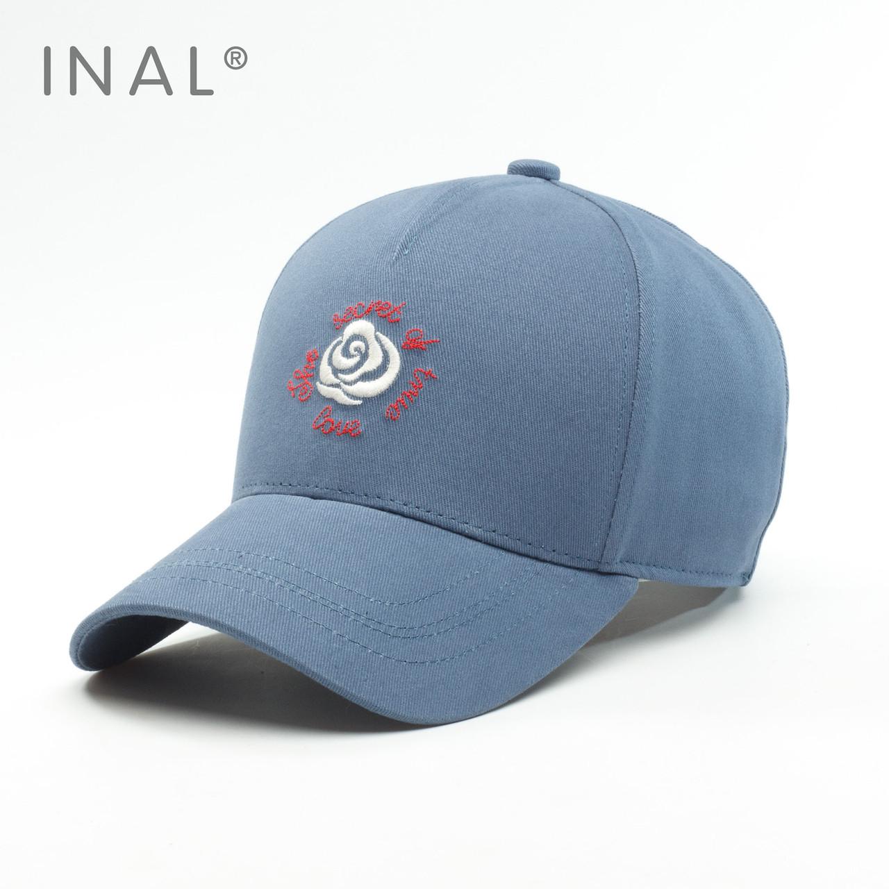 Кепка бейсболка, Rose, Хлопок, Синий, Inal